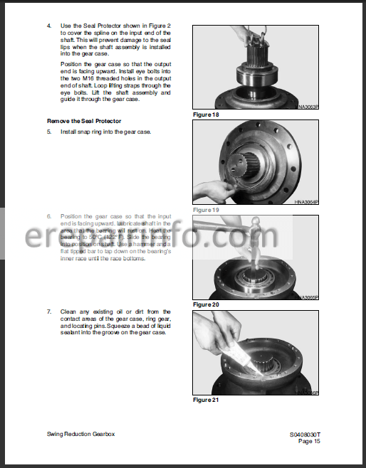 Terex 210LC 225LC Service Manual Excavator