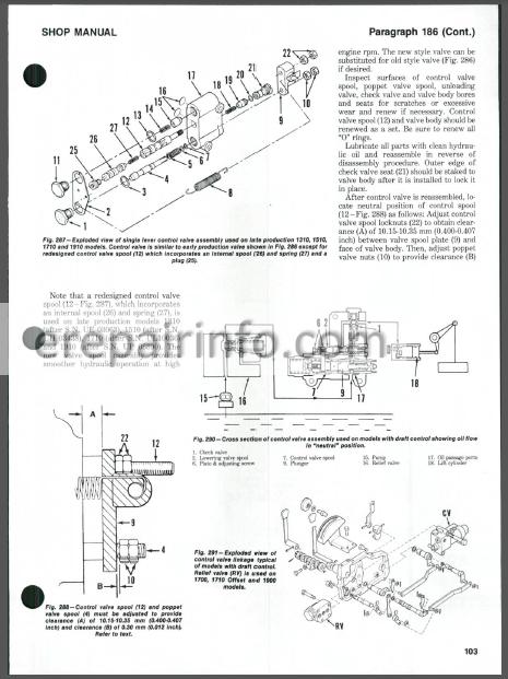 Ford 1100, 1110, 1200, 1210, 1300, 1310, 1500, 1510, 1700, 1710, 1900,  1910, 2110 Shop Manual Tractors
