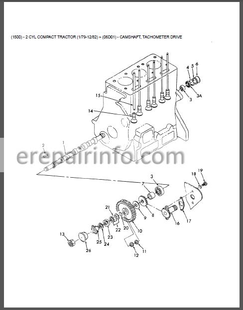 Ford 1500 Parts Manual Tractor  U2013 Erepairinfo Com