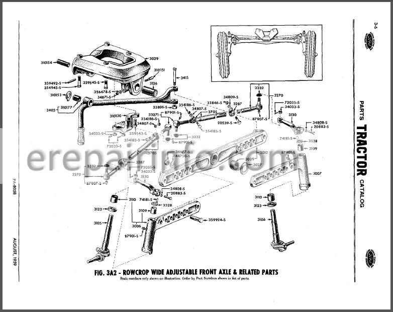 Ford 4 Cylinder 1953-1964 Parts Catalog