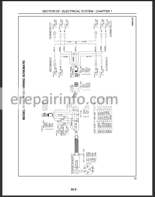 New Holland H7460 H7560 Service Manual Discbine Mover