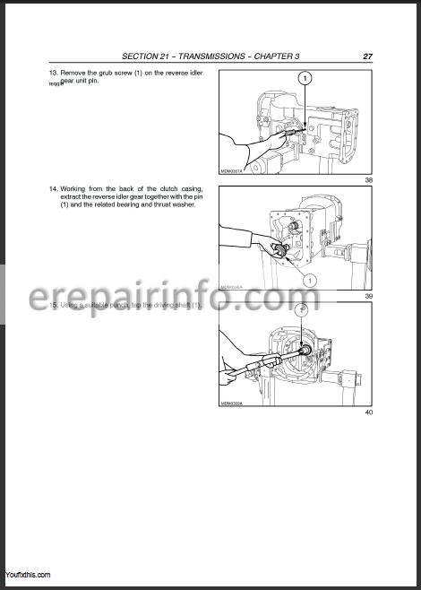 New Holland T5040 T5050 T5060 T5070 Repair Manual