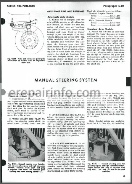 Case 400 700B 800B Shop Manual