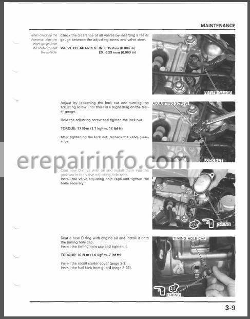 Honda Rubicon TRX500FA Service Manual ATV