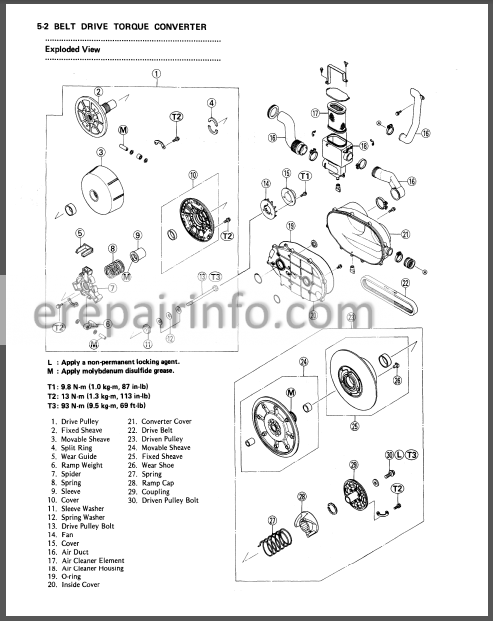 Kawasaki MULE 1000 Service Manual ATV