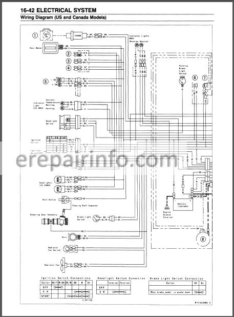 Kawasaki Mule 3000 3010 3020 Service Manual Atv
