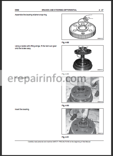 New Holland D350 Workshop Manual Crawler Dozer