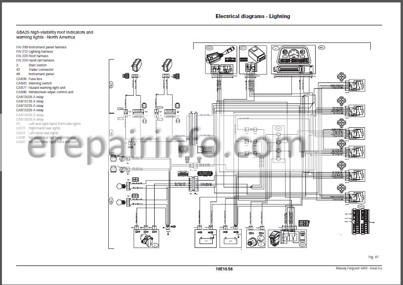 Massey Ferguson 5400 Repair Manual  U2013 Erepairinfo Com