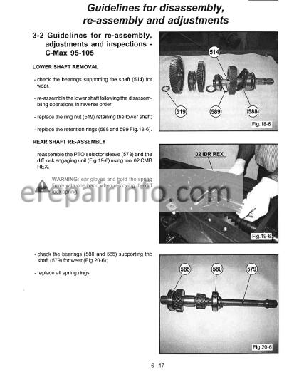 Mccormick C60 C75 C85 C95 C105 Max Repair Manual Tractors