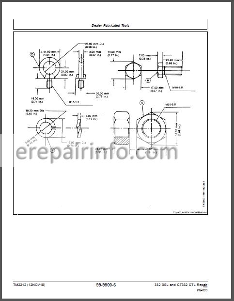 JD 332 CT332 Technical Repair Manual TM2212