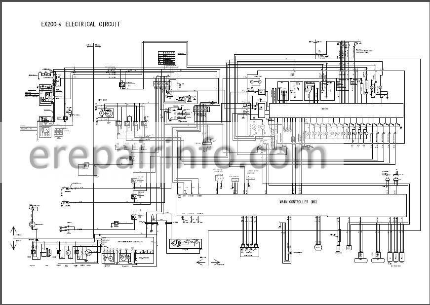Hitachi EX200-5 EX200LC-5 EX220-5 EX220LC-5 EX230LC-5