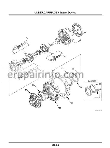 Hitachi Zaxis 200 225USR 225US 230 270 Workshop Manual