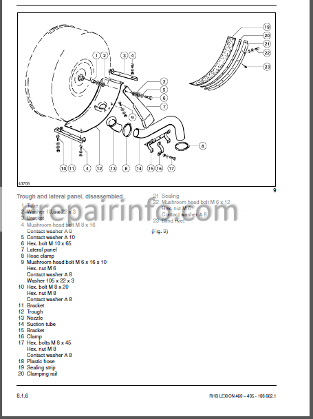 Claas Lexion 405 410 415 420 430 440 450 460 Repair Manual