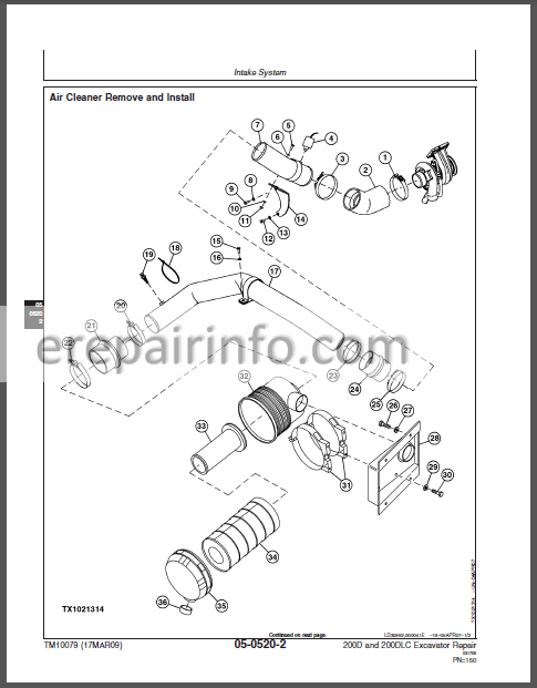 JD 200D 200DLC Technical Manual Excavator TM10079