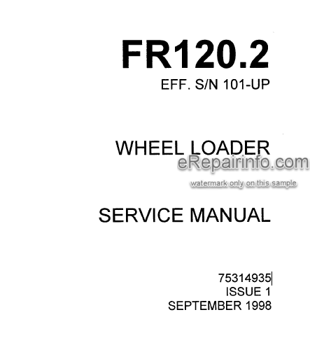 Fiatallis FR120.2 Operation Maintenance And Service Manual