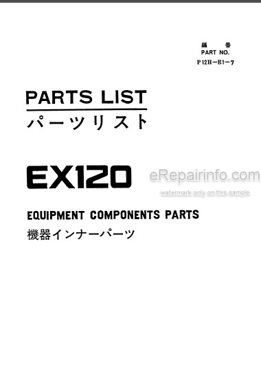 Hitachi EX120 Parts List And Parts Components Hydraulic