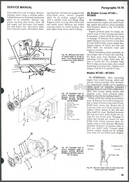 Mitsubishi MT160-MT300D Shop Manual Tractors