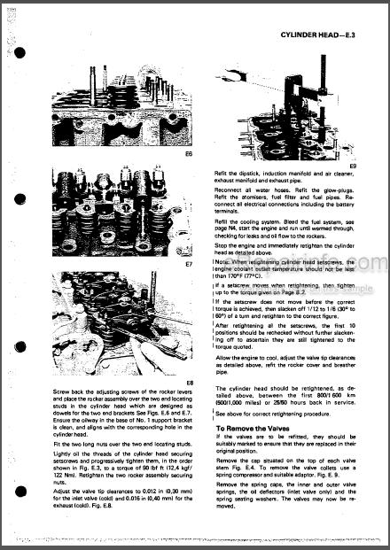 Perkins 4.165 Workshop Manual Diesel Engine