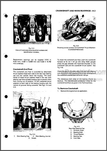 Perkins 4.192 4.203 D4203 Workshop Manual Diesel Engine