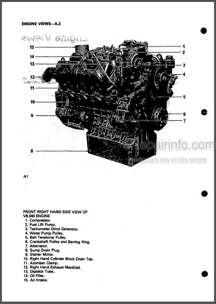 Perkins V8.640 TV8.64 Workshop Manual Diesel Engines