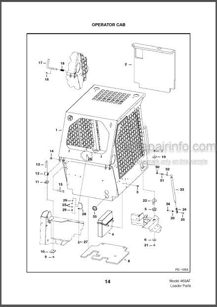 Bobcat 463 Parts Catalog Skid Steer Loader 6902178