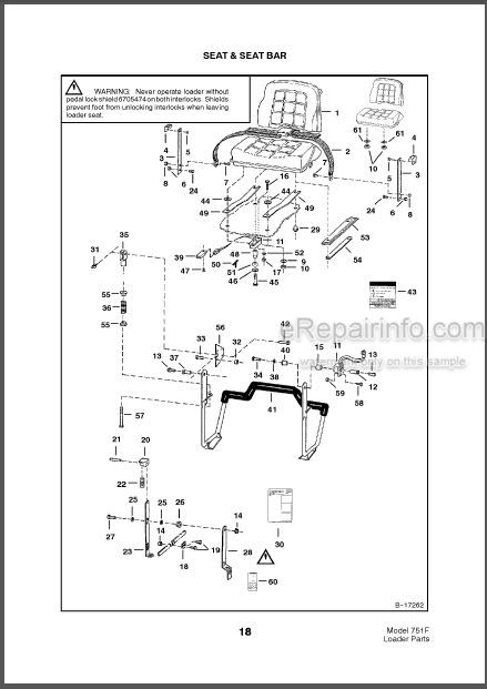 Bobcat 751 Parts Catalog Skid Steer Loader 6900439