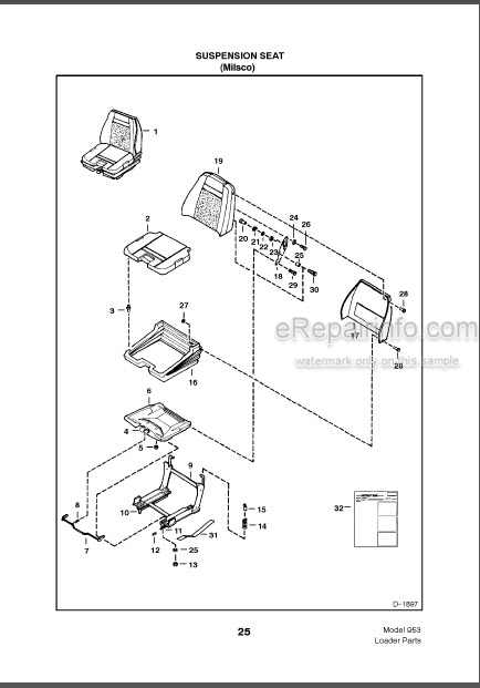 Bobcat 953 Parts Catalog Skid Steer Loader 6724292