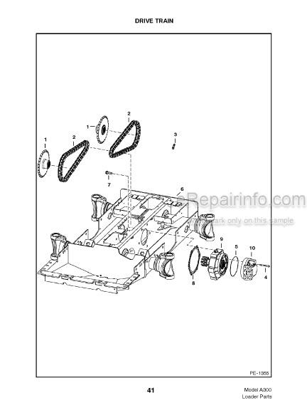 Bobcat A300 Turbo Parts Catalog Skid Steer Loader 6901806