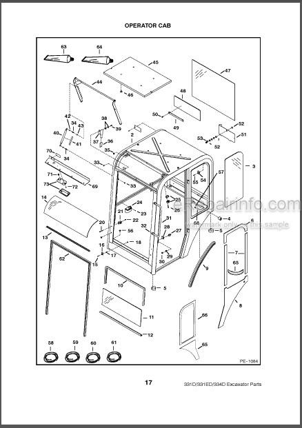 Bobcat 331 331E 334 D Series Parts Catalog Excavator
