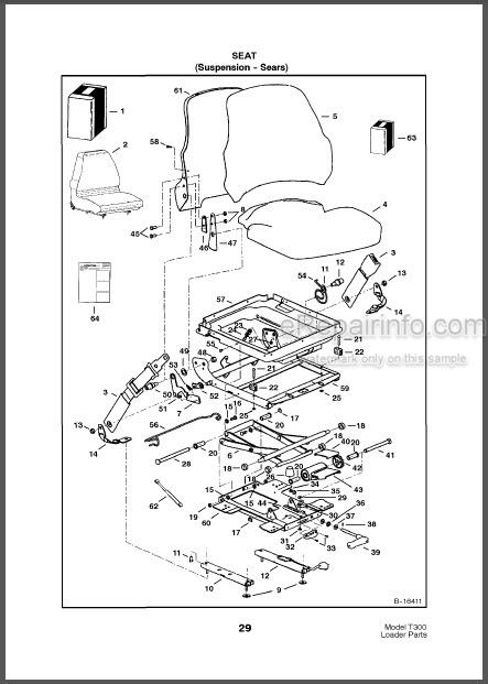 Bobcat T300 Turbo Parts Catalog Skid Steer Loader 6902226