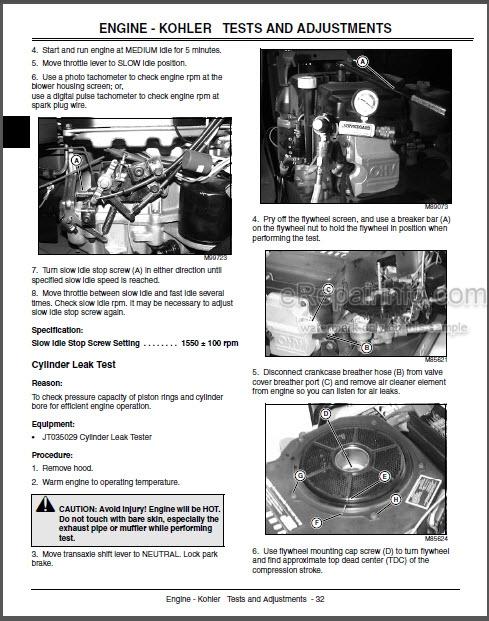 JD LX255 LX266 LX277 LX277AWS LX279 LX278 Technical Manual