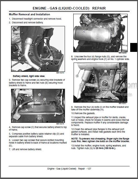 Jd X465 X475 X485 X575 X585 Technical Manual Garden