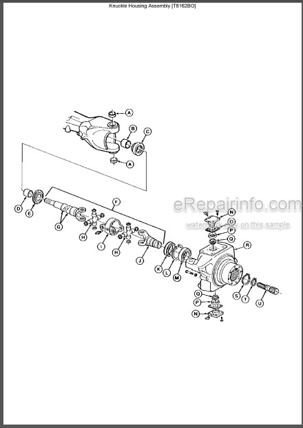 John Deere 300D 310D 315D Repair Manual Backhoe Loader