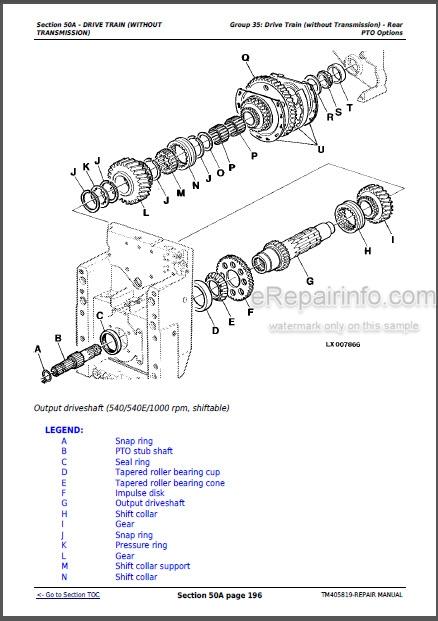 John Deere 6105M 6115M 6125M 6130M 6140M Repair Manual