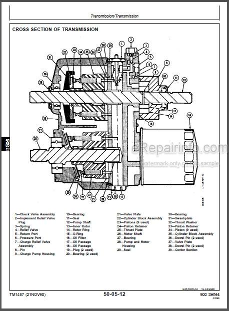John Deere F911 F915 F925 F932 F935 Repair Manual Front