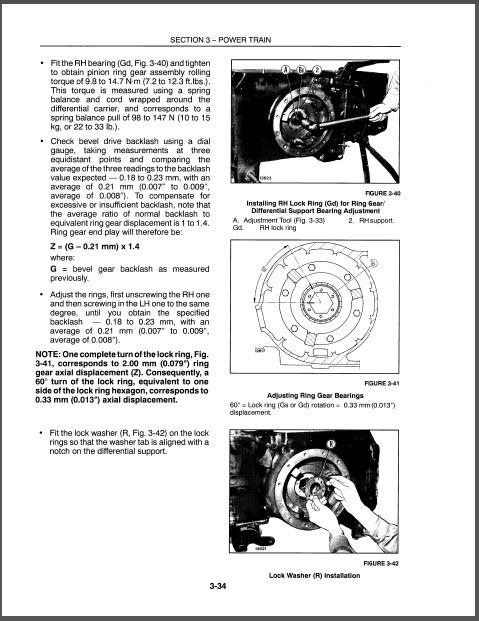 New Holland 3010S 4010S 5010S Repair Manual Tractors
