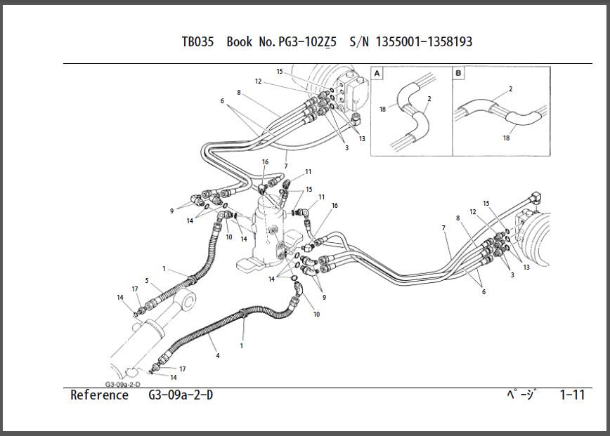 Takeuchi TB035 Parts Manual Excavator