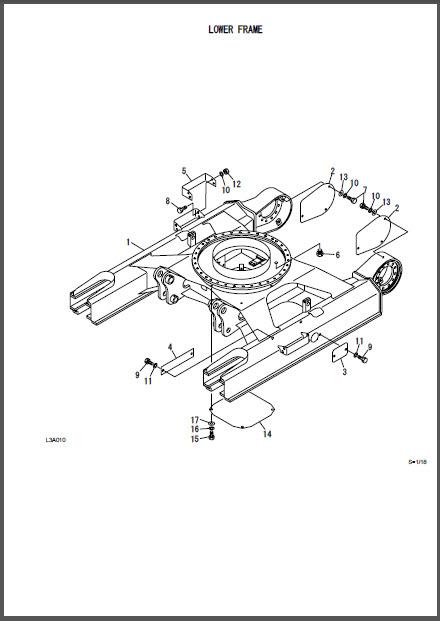 Takeuchi TB175 TB180 Parts Manual Excavator