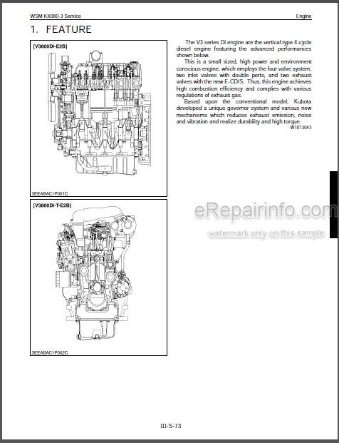Kubota KX080-3 Workshop Manual Excavator