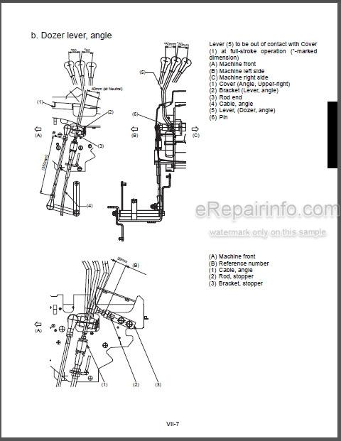 Kubota KX121-3 Workshop Manual Optional Unit Angle Blade