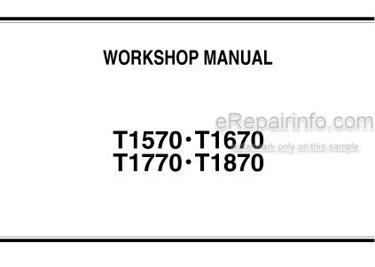 Kubota T1570 T1670 T1770 T1870 Workshop Manual Mower