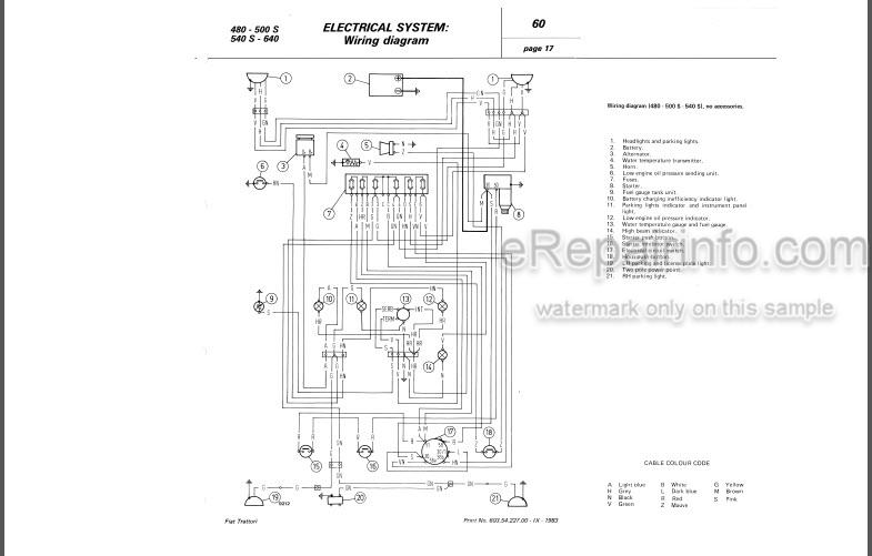 Fiat 480 500S 540S 640 480DT 500SDT 540SDT 640DT Workshop