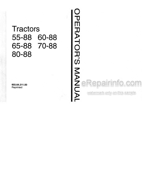 Fiat 55-88 60-88 65-88 70-88 80-88 and DT Operators Manual