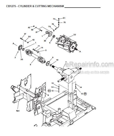 Gehl 1275 Parts Manual Forage Harvester 908010