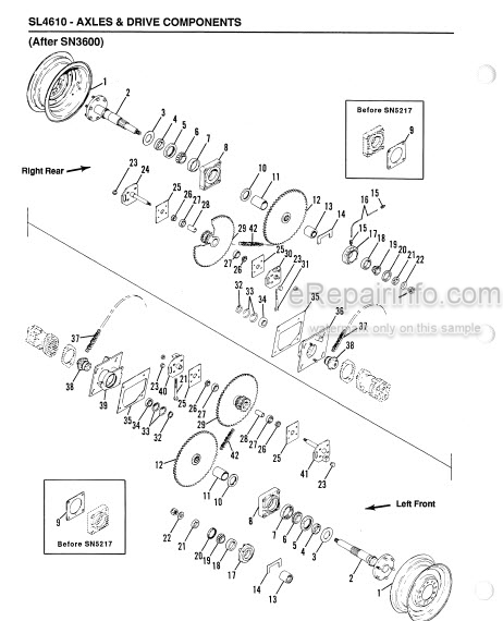 Gehl 4610 Service Parts Manual Skid Loader 906014