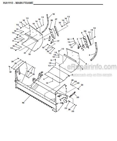 Gehl HA1110 Parts Manual Hay Attachment 907551