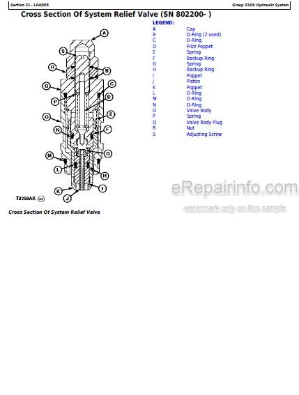 John Deere 300D 310D 315D Repair Manual Side Shift Backhoe