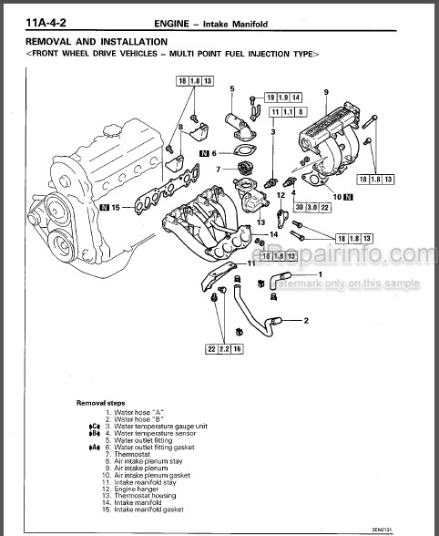 Mitsubishi 4G3 Series Workshop Manual Engine PWEE9049-A