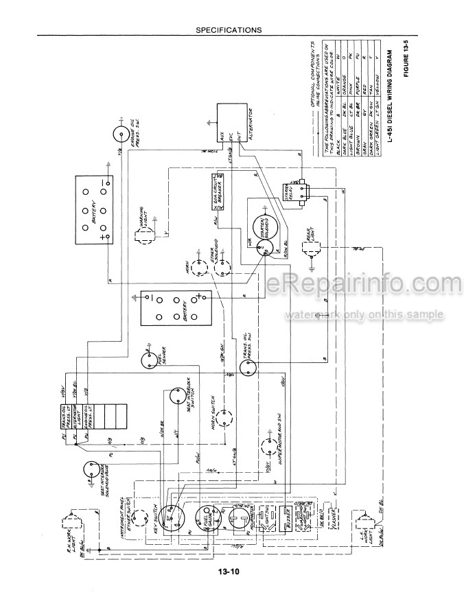 New Holland L451 L542 L545 L455 Service Manual Skid Steer