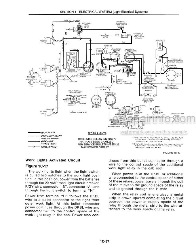 New Holland TR96 TR97 TR98 Repair Manual Combine 40009630